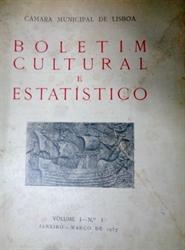 Imagem de  Boletim Cultural e Estatístico Volume 1 Nº 1 de 1937