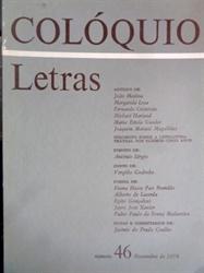 Imagem de  COLÓQUIO LETRAS - Nº 46